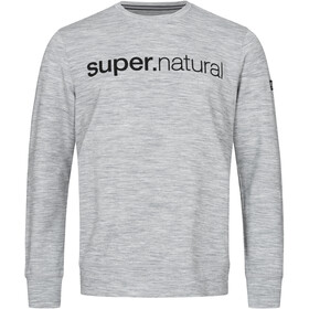 super.natural Signature Crew Top Men, ash melange/jet black identity